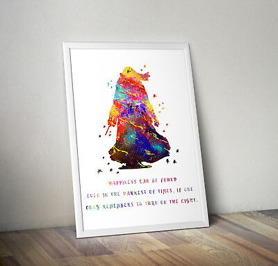 Harry potter, print, poster, albus dumbledore, quote, wall art, gift, Hogwarts