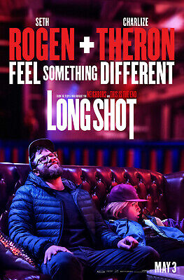 """LONG SHOT 2019 Teaser & Original DS 2 Sided 27x40"""" US Movie Posters Lot Of TWO"""
