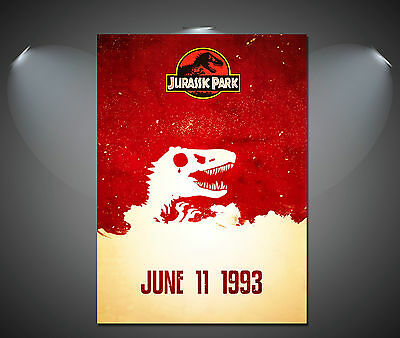 Jurassic Park Vintage Movie Art Poster - A1, A2, A3, A4 sizes
