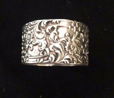 Art Nouveau Serling Silver Napkin Ring Frank Whiting 1899