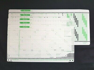 Pc262 Rare Brother Knitting Machine Patterns Punch Cards G Garter Carriage X5