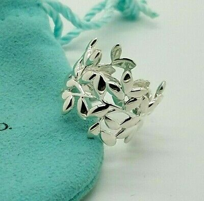 Tiffany & Co. Sterling Silver 925 Paloma Picasso Olive Leaf Ring Band Size 7