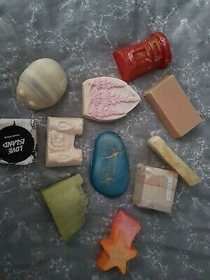Lush bundle of soaps and 2 scrubs new