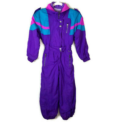 cfbcf0650 Cornice Kids Snow Suit Ski Board Vintage 80s 90s Girl Youth Small Purple  Pink