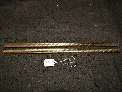 """2 Pieces Of 3/4"""" Reeded Rope Brass Tubing W/ Check Rings , Free Shipping  # 1133"""