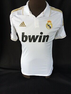 new product 787ce f270d AUTHENTIC CRISTIANO RONALDO Adidas Real Madrid Jersey 2011/2012 Home White  Gold