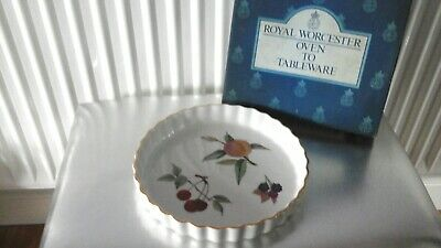 Royal Worcester Evesham Vale Fluted Flan Dish Oven to Tableware Microwave Proof