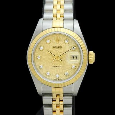 new concept 8af5a e2d7c FREE SHIPPING PRE-OWNED ROLEX Datejust 79173G Champagne Dial ...