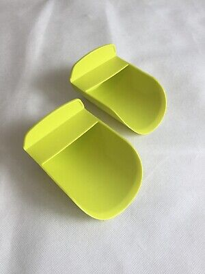 TUPPERWARE Scoops Chartreuse Yellow Green Flour Sugar LOT OF 2