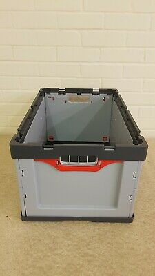 Industrial 62 Litre Folding Collapsible Euro Plastic Stacking Container 600 mm