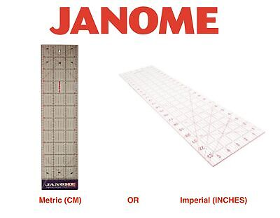 Janome Transparent Quilting Ruler Craft Patchwork Rectangle Template CM / INCHES