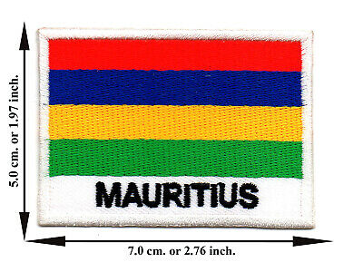 Mauritius Travel Flag Nation Country Sport DIY Applique Iron on Patch Sew Crafts