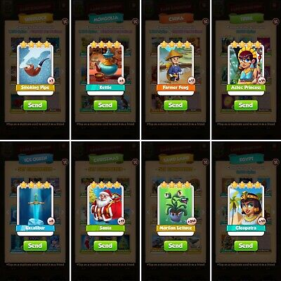 Coin Master rare card set *Includes one of each in the picture*