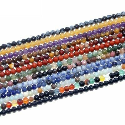 Assorted Natural Stone Round Beads For Jewelry Making DIY Bracelet Material