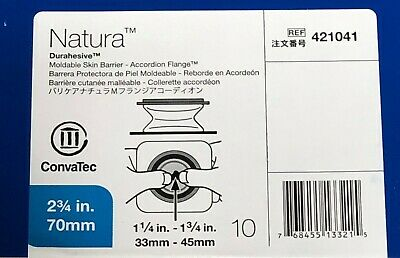 Box of 10 ConvaTec Natura Durahesive Skin Barrier w/ Accordion Flange 2.75""