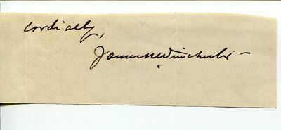 James Wilson Hunter 5th Episcopal Bishop Wyoming Clergy Signed Autograph