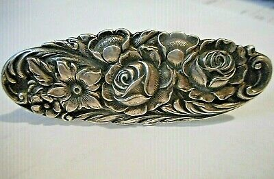 RARE  ANTIQUE 1800's STERLING SILVER S KIRK & SON REPOUSSE BROOCH MUSEUM GRADE
