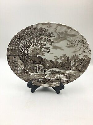 """JOHNSON Brothers STOKE on Trent England COTSWOLD 12"""" Platter Brown"""
