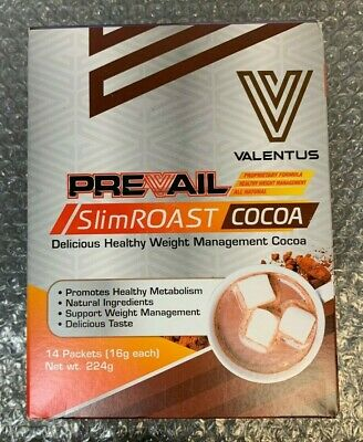 SlimROAST Prevail COCOA Weight Loss Cocoa Diet 1 Box 14 Packets