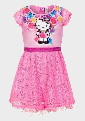 Hello Kitty Hot Pink Dress girl baby + FREE GIFT