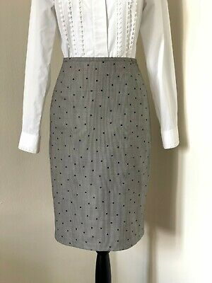 fb9bc7428e Escada Lightweight Wool and Silk Blend Polka Dot Pencil Skirt *38 DE 8 US