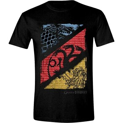 Game of Thrones House Stark Targaryen Lannister Official Tee T-Shirt Mens
