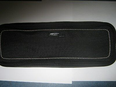New Tumi Georgetown Accessory Zipper Cord Pouch Black With Tan Top Stitch Accent