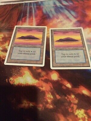 Mountain VG Magic MTG - Unlimited 2nd Edition 1993 Basic Land Tall