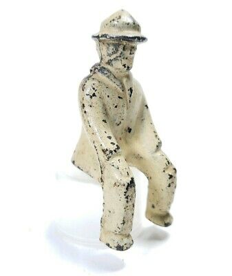 Vintage Cast Iron Seated Figure Driver For Toy Vehicles Hubley 2 1/2 Inches