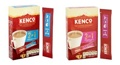 Kenco Instant Smooth White Coffee 5 Sachet 2 In 1 70G or 3 In 1 100G