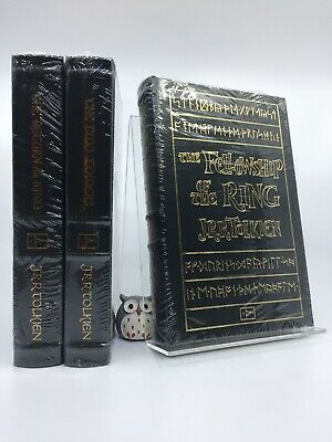 EASTON PRESS JRR Tolkien Lord of the Rings Trilogy LOTR Middle Earth 3V SEALED