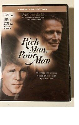 Rich Man, Poor Man: The Complete Collection (DVD, 2010, 9-Disc Set) New & Sealed