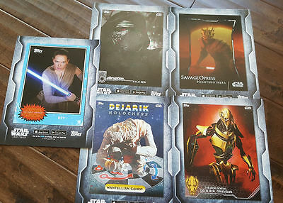 2016 Sdcc Comic con Exclusivo Topps Star Wars Card Trader Grande Promo Card Set