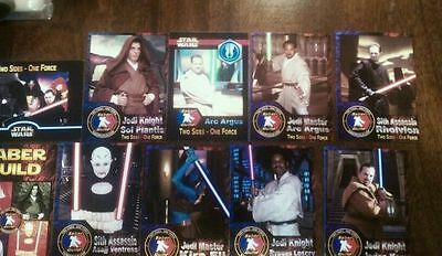 2012 Sdcc Wondercon Star Wars Sable Guild Juego de 10 Promo Cards