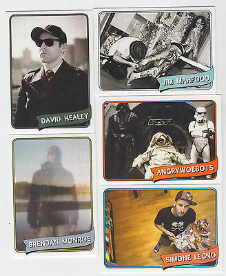 2012 Sdcc Comic con The Art Hustle Promo Card Set de 5 Star Wars Healy / 500