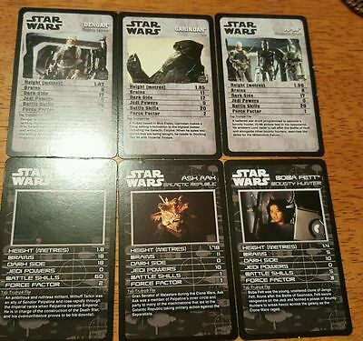 2016 Star Wars Celebration Europe Exclusivo Top Trumps Promo Card Set de 6 Fett