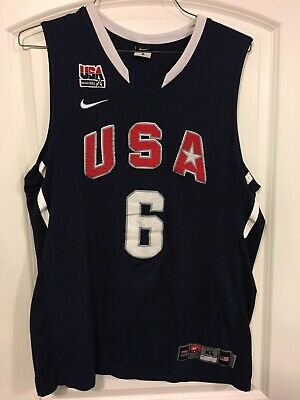 buy popular c9e25 638a0 NEW LEBRON JAMES Jersey Men's - Olympics Team USA NWT # 6 ...