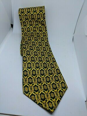 2155d733a7bc GIANNI VERSACE CLASSIC Tie 100% Silk Brown/Bronze & Gold Greek Key ...
