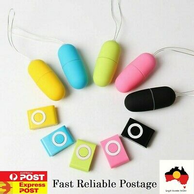 Bullet Vibrator Egg 20 Speed Wireless Remote and Discreet Free Fast Postage Aus