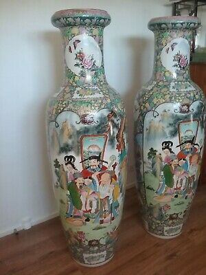 Hand painted Chinese  floor vase 1575mm height x 1651 width. Circa 1970