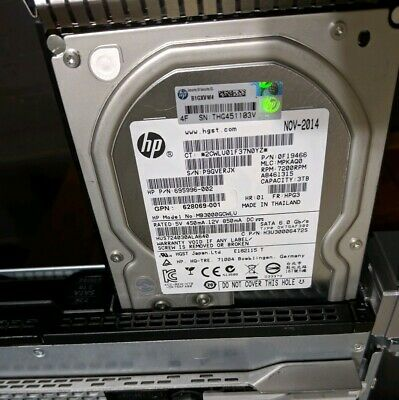 "HP Hitachi Ultrastar 3TB 7.2K RPM  3.5"" SATA Enterprise HDD 628182-001"