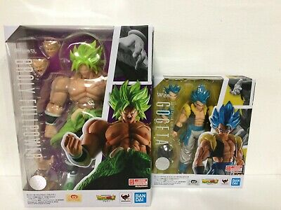 GENUINE 2-SET S.H.Figuarts Dragon Ball Movie Super Saiyan Blue Gogeta & Broly