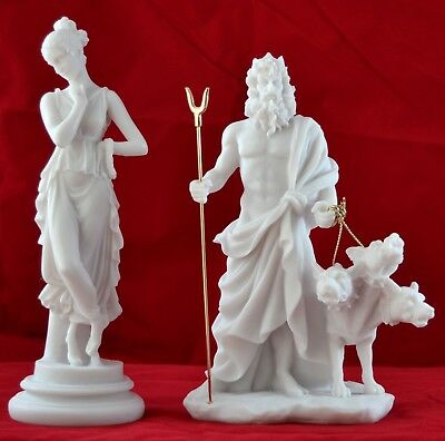 Persephone Goddess  and Hades greek statue 10 inches free shipping