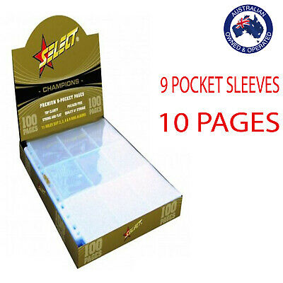 Champions Select Premium 9 Pocket Afl Pokemon Trading Card Sleeves 10 Pages