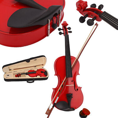 4/4 Full Size Acoustic Violin Fiddle with Case Bow Rosin Bridge