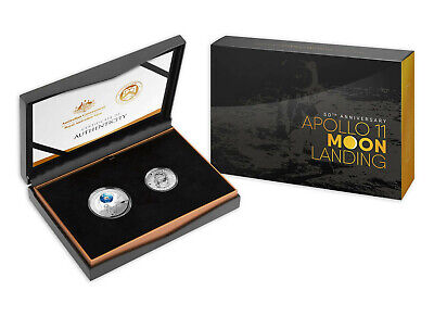 2019 $5 & Half Dollar 50th Anniversary of the Lunar Landing Two Coin Proof Set