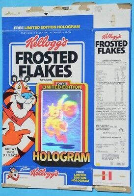 Kellogg's Limited Edition Frosted Flakes Cereal Box with Tony the Tiger Hologram