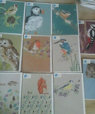 50 Rspb Mix Cards,Wholesale Joblot Greeting Cards
