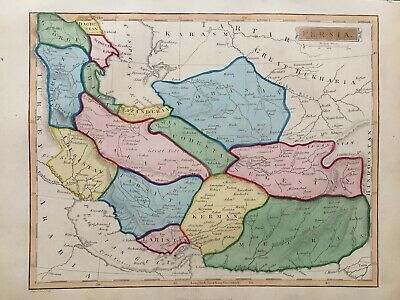 1838 Antique Map; Persia / Iran after John Russell - scarce map