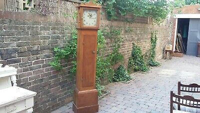 Vintage Oak Grandfather Clock.